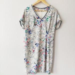 Riani V-Neck Floral Short Sleeve Dress